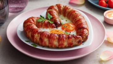 Love Sausage pictured on a plate from M&S