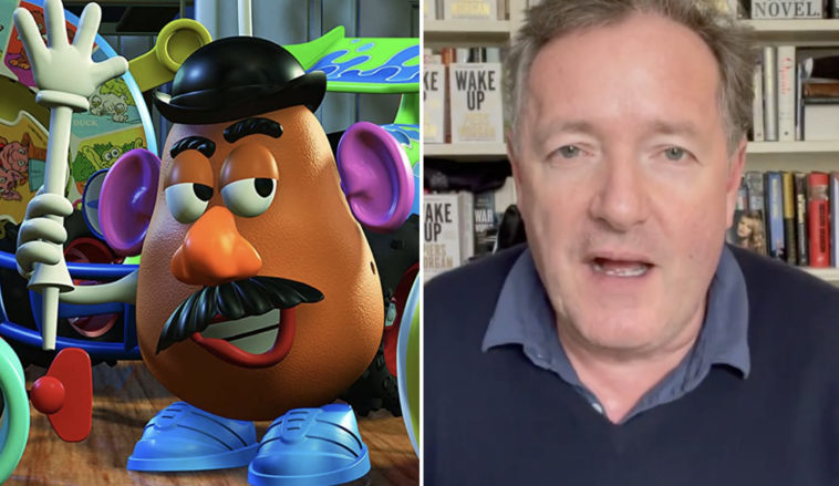 Piers Morgan says that Mr Potato Head 'going gender-neutral' is 'spineless and depressing'.