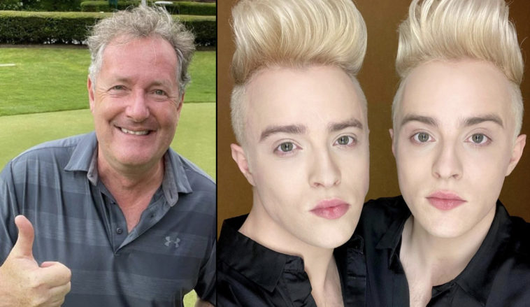 Piers Morgan has gotten into a mighty Twitter spat with Jedward.