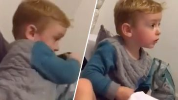 Moment 'ghost' snatches remote from kid's hands caught on camera