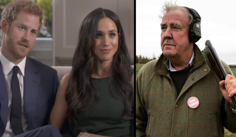 Jeremy Clarkson says Prince Harry and Meghan Markle 'won't have a happy end,' after dubbing the Duchess of Sussex a 'silly littlecable TV actress'.