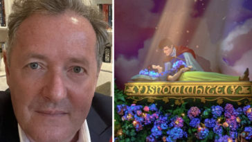 Piers Morgan calls out Snow White campaign.