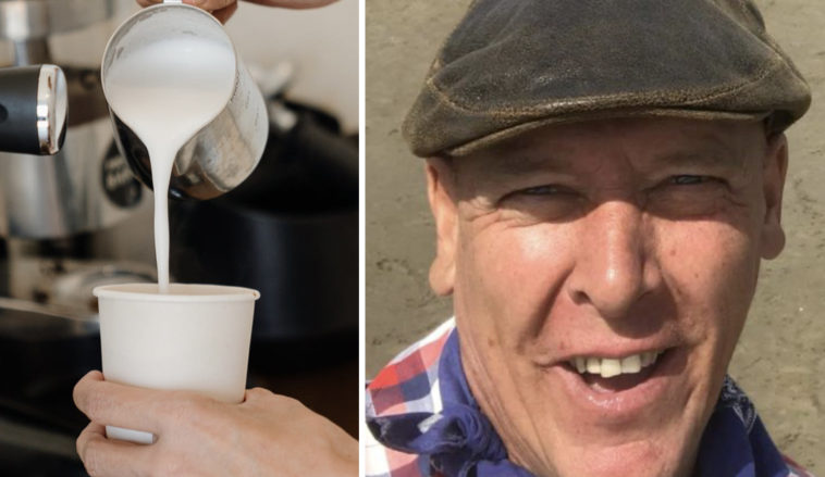 Farmer receives death threats after asking about cow's milk at vegan café.
