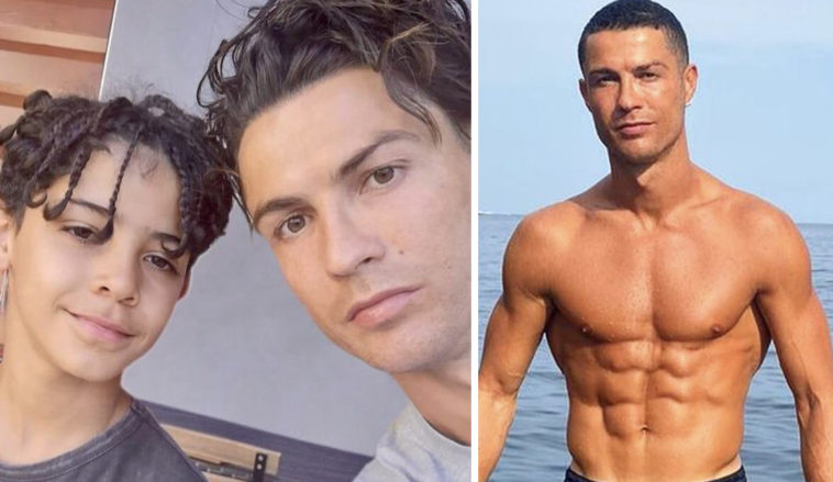Cristiano Ronaldo's son has been spotted wearing a designer watch.