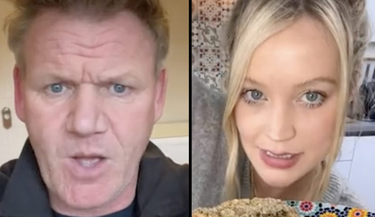 Gordon Ramsay, who never fails to make us laugh with his reactions to vegan dishes shared on social media, has hit out at TV presenter Laura Whitmore's sandwich-making skills.