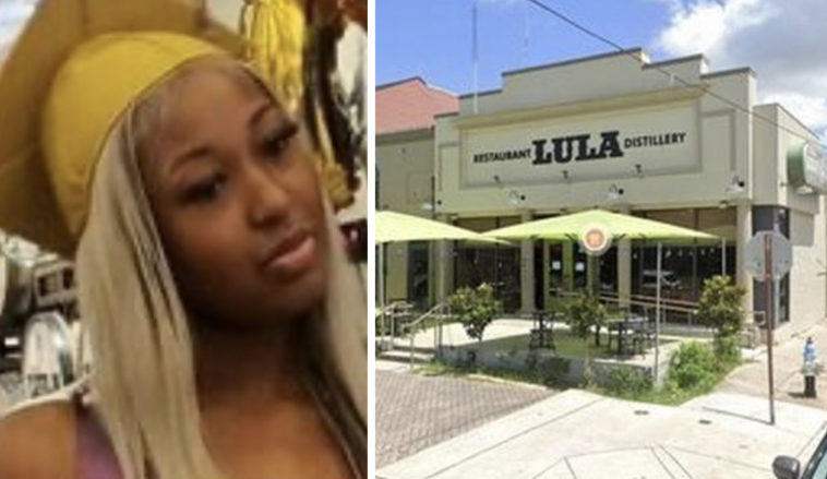 A teenager claims she was kicked out of a restaurant over her 'inappropriate' top.