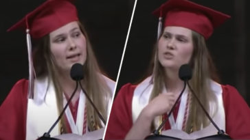 A student has received mass praise over her moving speech on abortion laws.