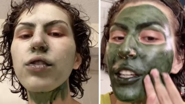 A woman accidentally turned herself into 'The Mask' just hours before she had to attend a job interview.