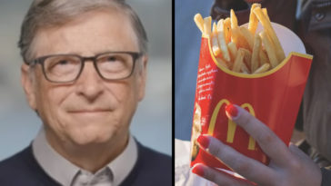 McDonald's potato fries are reportedly grown on Bill Gates' farmland, which is said to be so vast it can be seen from space.