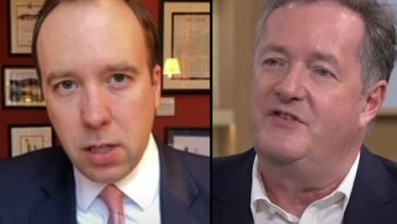 Piers Morgan has slammed Matt Hancock for having an 'affair' at the same time he was 'ordering British people not to hug'.