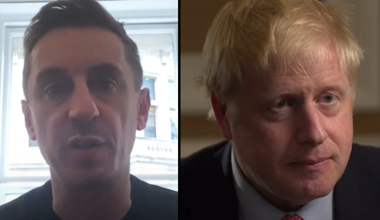 Gary Neville has called out Boris Johnson for 'promoting' racism.