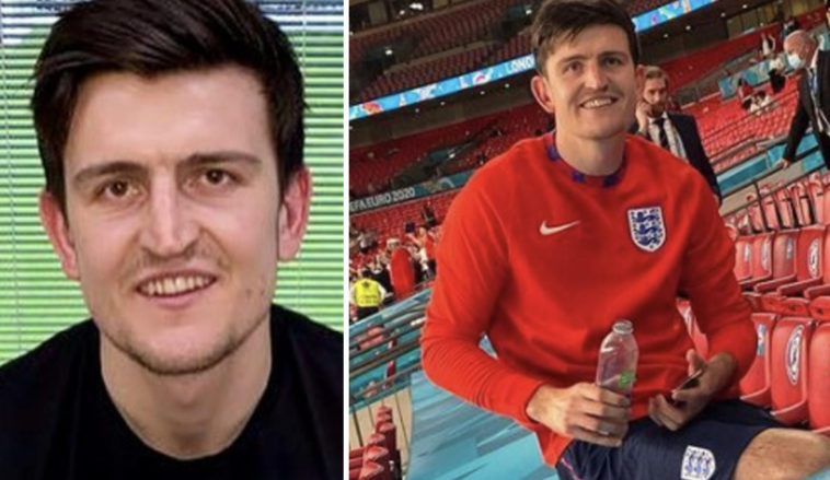 Harry Maguire has revealed that his 65-year-old dad had his 'ribs broken' during the Wembley Stadium stampede.