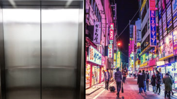 A hotel has sparked outrage for having a 'Japanese Only' sign in the elevator.