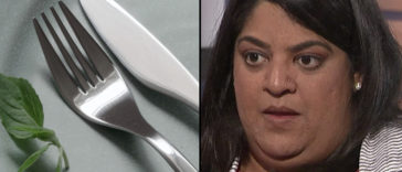 A woman has claimed that cutlery is 'racist'.