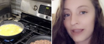 A woman has claimed that she discovered her boyfriend was 'cheating' when she spotted the reflection of another female in a photo he sent her.