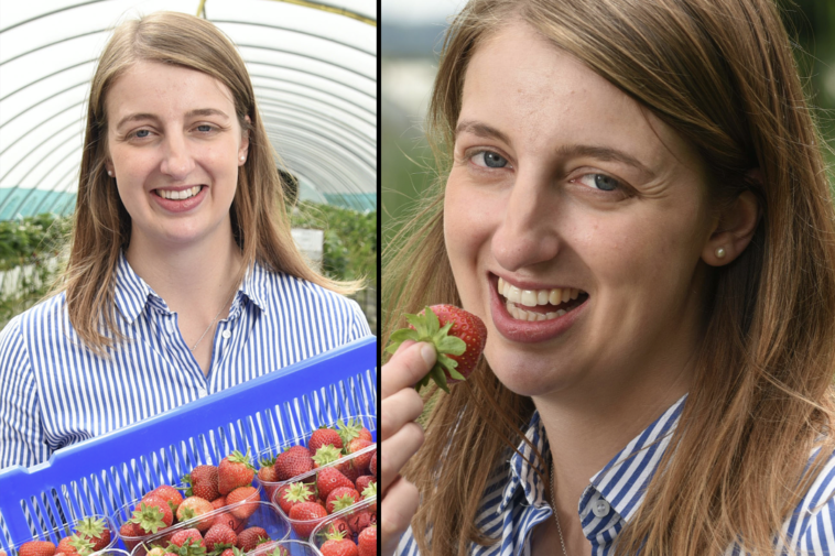 Woman gets paid to travel world eating strawberries.