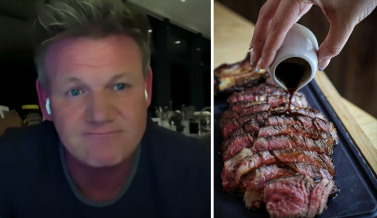A Gordon Ramsay steakhouse diner received an 'eye-watering' bill after misreading the menu.