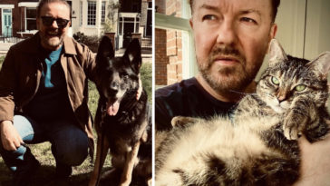 Ricky Gervais has lashed out at critics of the campaign to save animals stuck in the middle of the Afghanistan crisis.