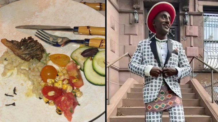 The Met Gala chef has defended the quality of the food served at the event after a 'shocking' photo went viral.