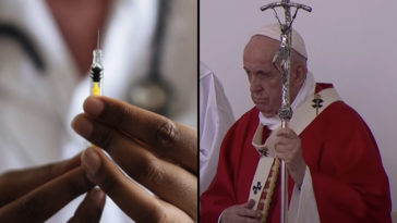 Pope Francis is telling vaccine 'deniers' to 'hurry up and get the jab,' according to reports.