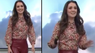 Good Morning Britain's weather woman, Laura Tobin, was left 'red-faced' after 'farting on air'.