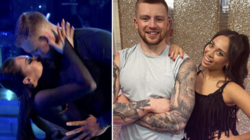 Strictly Come Dancing's Adam Peaty has lashed out over claims he 'almost kissed' Katya Jones on Saturday's episode of the show.