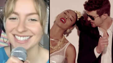 A woman has gone viral after rewriting the lyrics from Robin Thicke's 'Blurred Lines' to be about 'consent'.