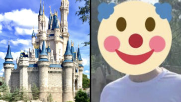 Disney fans have slammed a couple for turning up to the family-friendly theme park in 'inappropriate' T-shirts.